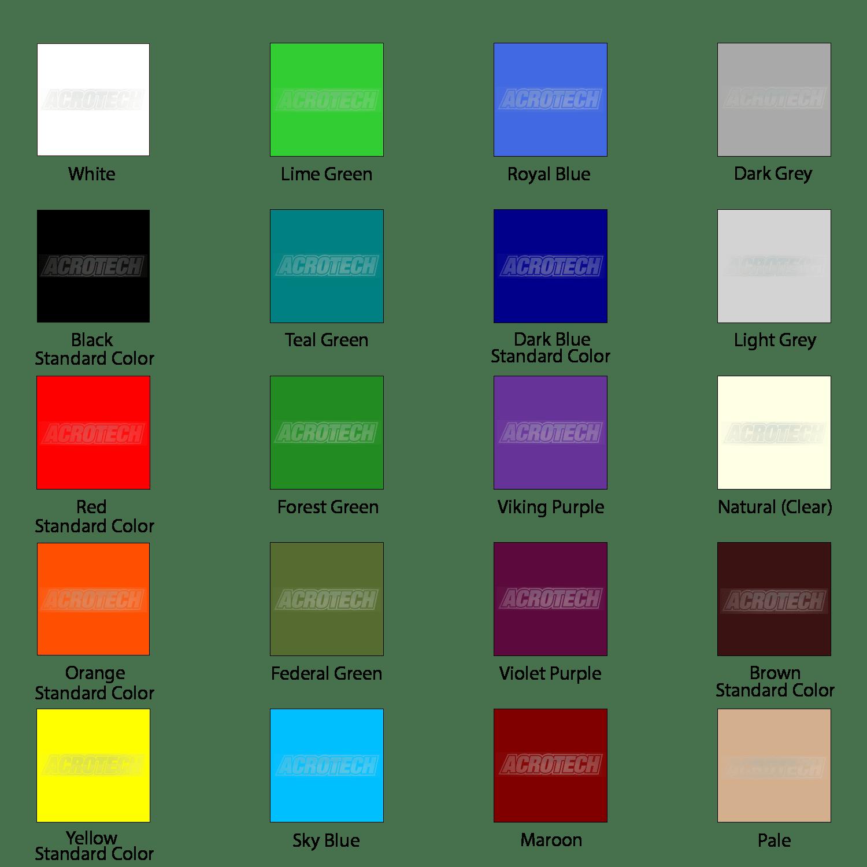 Custom Colored Urethane   Acrotech Inc.